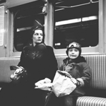 Subway Mom and Boy By Martin Elkort